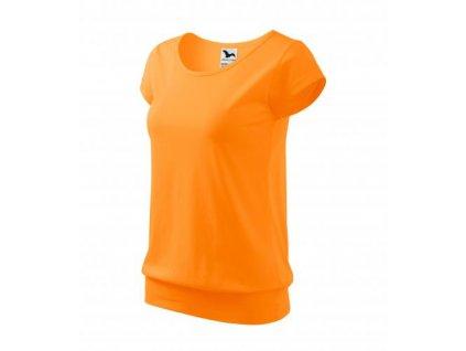 City tričko dámské tangerine orange