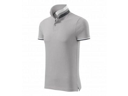 Collar Up polokošile pánská silver gray