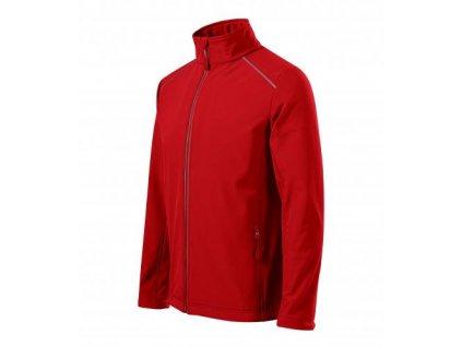 Valley softshellová bunda pánská červená