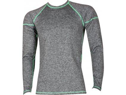 VOXX SOLID 01 pánské tričko dlouhý rukáv melé