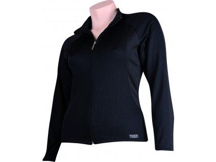 VOXX SOLID 07 dámská mikina zip černá/černá