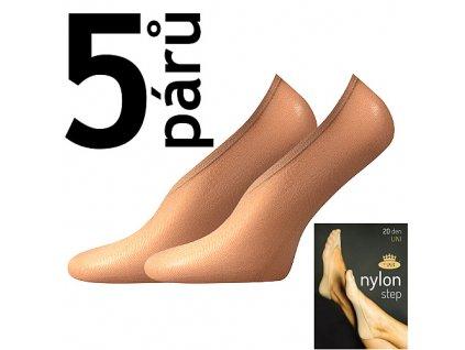 VOXX ťapky NYLON step 20 DEN / 5 párů golden
