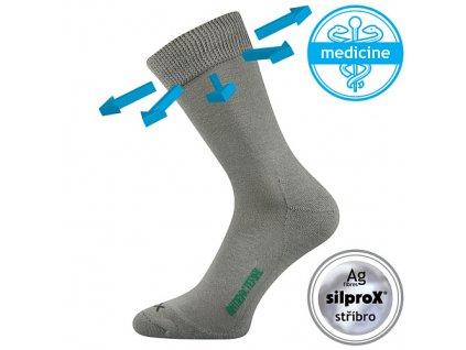 VOXX ponožky Zeus zdrav. světle šedá
