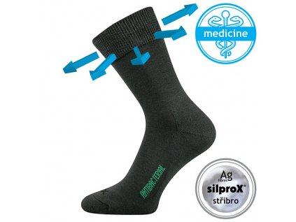 VOXX ponožky Zeus zdrav. tmavě šedá