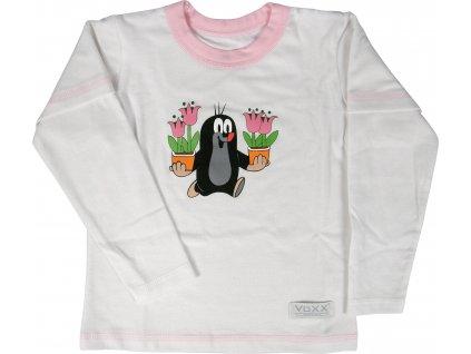 VOXX KR 769 funkční tričko dlouhý rukáv bílá/růžová
