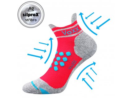 VOXX kompresní ponožky Sprinter neon růžová