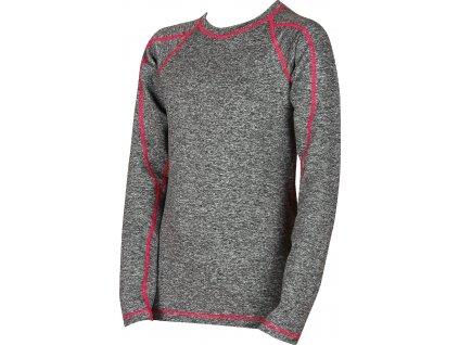 VOXX SOLID 08 dětské tričko dlouhý rukáv zelená/antracit
