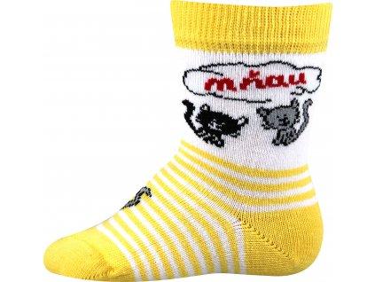 VOXX ponožky Mia žlutá