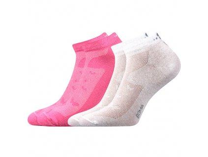 VOXX ponožky G-Piki Dámské 2 pár růžová/bílá