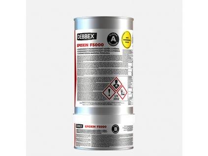 Den Braven - EPOXIN F5000, sada plechovek 5 + 1 kg, zinková žlutá RAL 1018