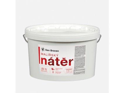 Den Braven - Malířský nátěr, kbelík 7 kg, bílý