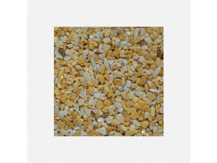 Den Braven - Mramorové kamínky 3 - 6 mm, pytel 25 kg, žluté