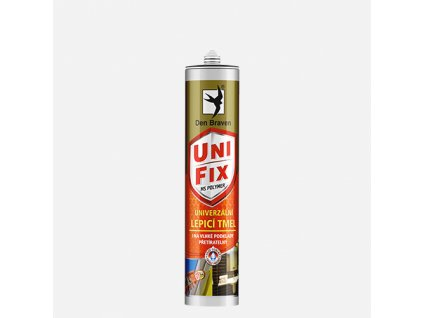 Den Braven - MS UNIFIX na všechna tmelení a lepení, kartuše 290 ml, šedá