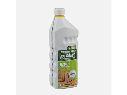 Den Braven - Ochranný nátěr na dřevo PROFI, láhev 1 kg, zelený