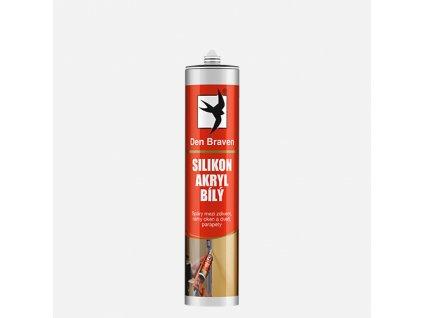 Den Braven - Silikon akrylový tmel, kartuše 280 ml, bílá