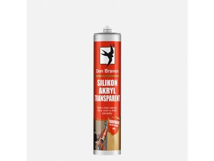 Den Braven - Silikon akrylový tmel, kartuše 280 ml, transparentní