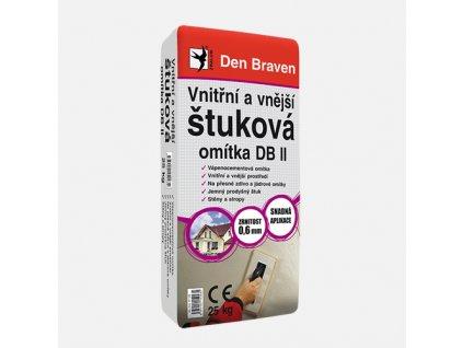 Den Braven - Vnitřní a vnější štuková omítka DB II, pytel 25 kg