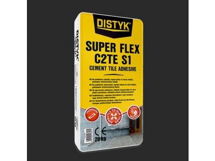 FLEXIBILNÍ LEPIDLO NA OBKLADY A DLAŽBU SUPER FLEX C2TE S1 Distyk, pytel 20 kg, šedé
