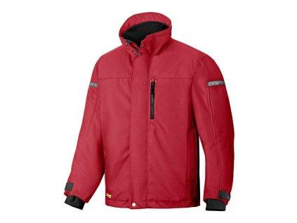 Bunda zateplená AllroundWork 37.5® červená vel. XS Snickers Workwear