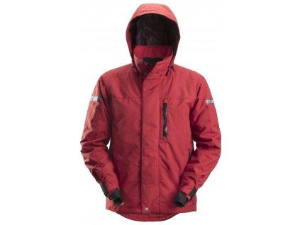 Bunda nepromoková AllroundWork 37.5® zimní červená XS Snickers Workwear