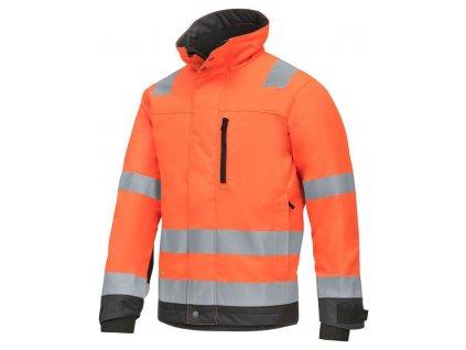 Bunda reflexní AllroundWork zimní 37.5®, třída 3 oranžová vel. XS Snickers Workwear