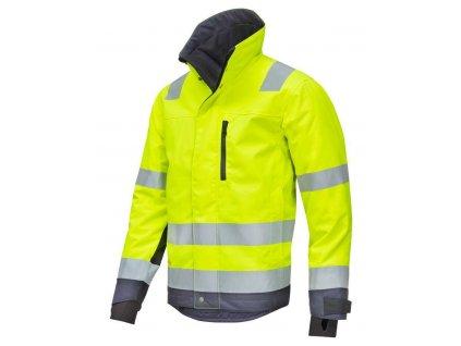 Bunda reflexní AllroundWork zimní 37.5®, třída 3 žlutá vel. XS Snickers Workwear