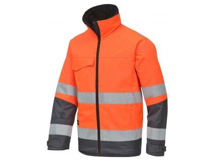 Bunda reflexní Rip-stop zimní, třída 3 oranžová vel. XS Snickers Workwear