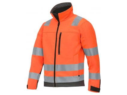Bunda reflexní AllroundWork softshell, třída 3 oranžová vel. XS Snickers Workwear