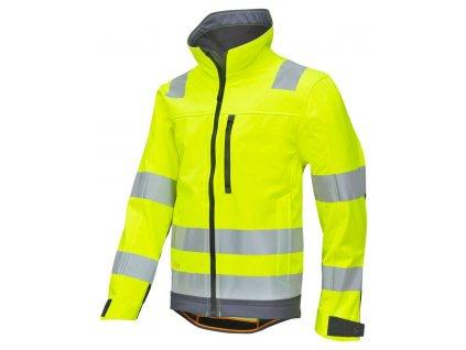 Bunda reflexní AllroundWork softshell, třída 3 žlutá vel. XS Snickers Workwear