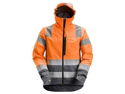 Bunda AllroundWork reflexní nepromokavá, tř. 3 oranžová vel. XS Snickers Workwear