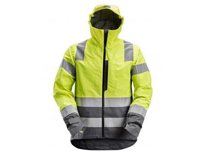 Bunda AllroundWork reflexní nepromokavá, tř. 3 žlutá vel. XS Snickers Workwear