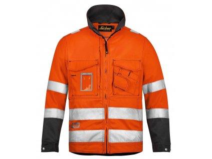 Bunda reflexní, třída 3 oranžová vel. XS Snickers Workwear