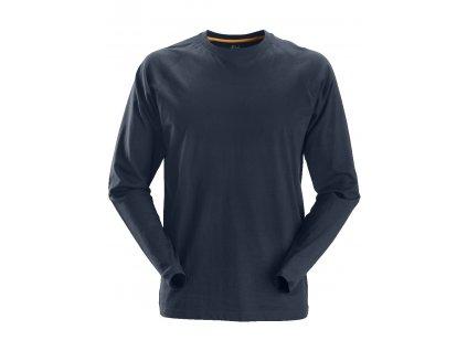 Triko AllroundWork s dlouhým rukávem tmavě modré XS Snickers Workwear