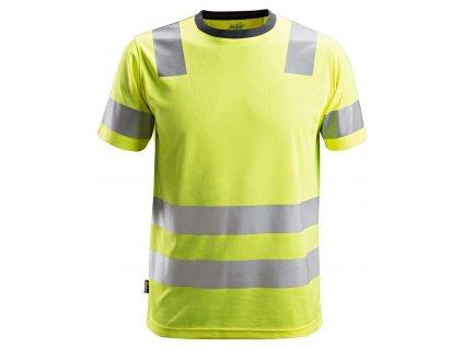 Triko AllroundWork reflexní tř. 2 žluté vel. XS Snickers Workwear