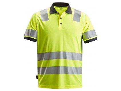 Polokošile AllroundWork reflexní tř. 2 žlutá vel. XS Snickers Workwear