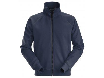 Mikina na zip tmavě modrá XS Snickers Workwear