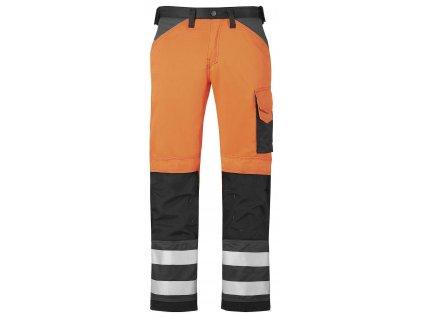 Kalhoty reflexní, třída 2 oranžové Snickers Workwear