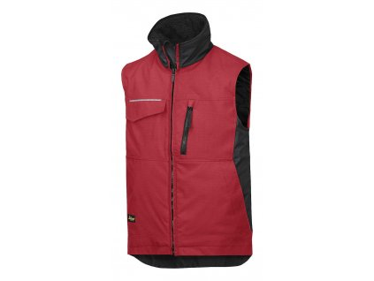 Vesta zimní Rip-Stop červená vel. XS Snickers Workwear