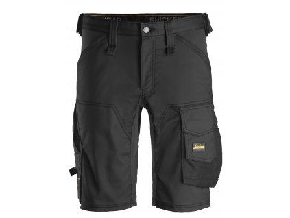 Kraťasy AllroundWork Stretch černé Snickers Workwear