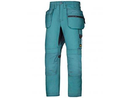 Kalhoty AllroundWork+ sPK modré petrol Snickers Workwear