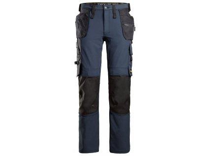 Kalhoty AllroundWork Full Stretch s PK modré Snickers Workwear