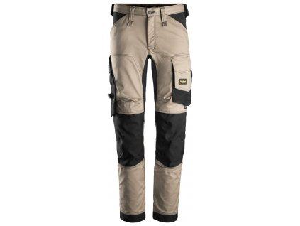 Kalhoty AllroundWork Stretch béžové Snickers Workwear