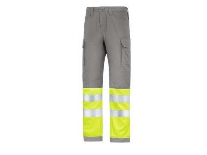 Kalhoty reflexní Service, třída 1 šedé Snickers Workwear