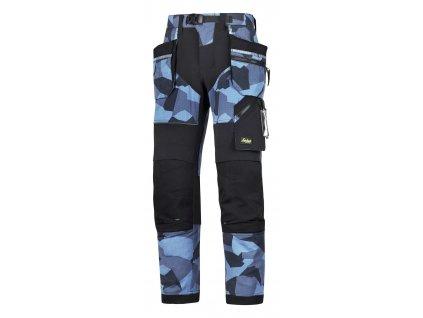 Kalhoty FlexiWork+ sPK modrý maskáč Snickers Workwear