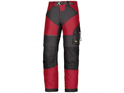 Kalhoty FlexiWork+ červené Snickers Workwear