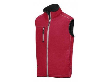 Vesta fleecová AIS červená vel. M Snickers Workwear
