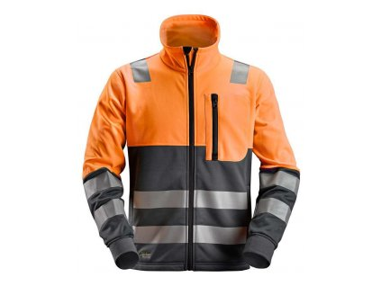 Mikina AllroundWork reflexní na zip, tř. 2 oranžová XS Snickers Workwear