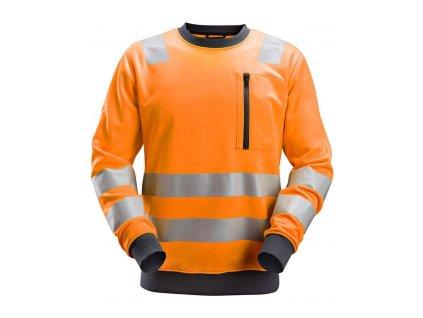 Mikina AllroundWork reflexní, tř. 2/3 oranžová S Snickers Workwear