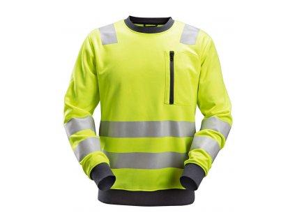 Mikina AllroundWork reflexní, tř. 2/3 žlutá S Snickers Workwear