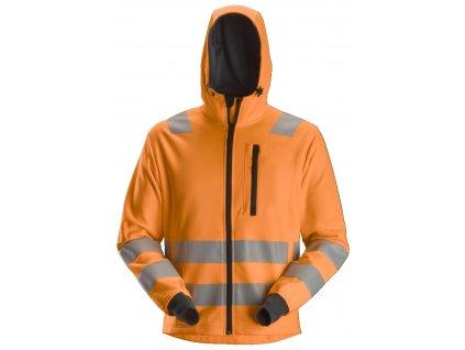 Mikina AllroundWork reflexní se zipem, tř. 2/3 oranžová XS Snickers Workwear